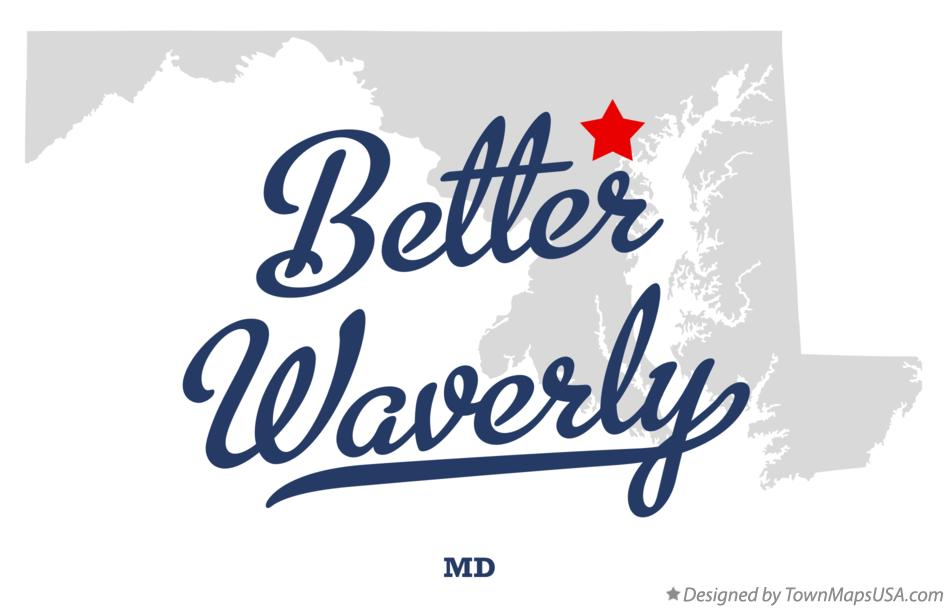 Map of Better Waverly Maryland MD