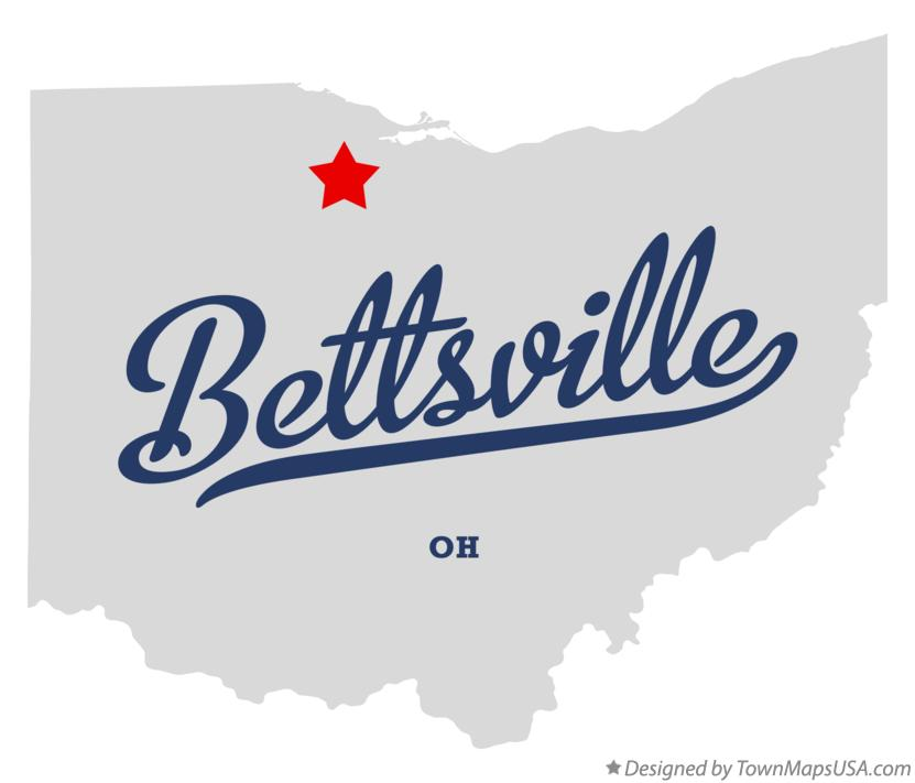 Map of Bettsville Ohio OH