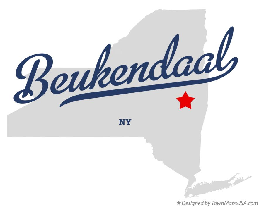 Map of Beukendaal New York NY