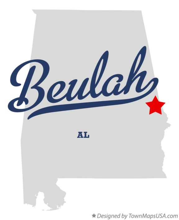 Map of Beulah Alabama AL