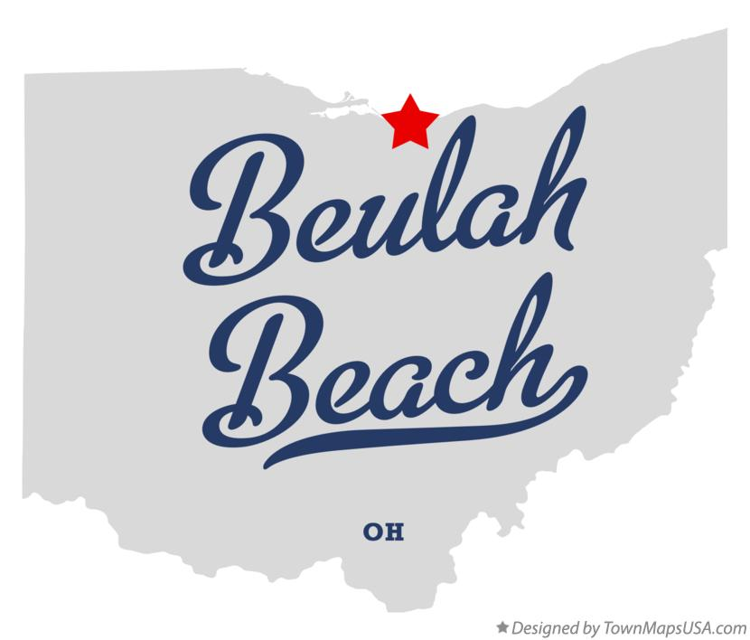 Map of Beulah Beach Ohio OH