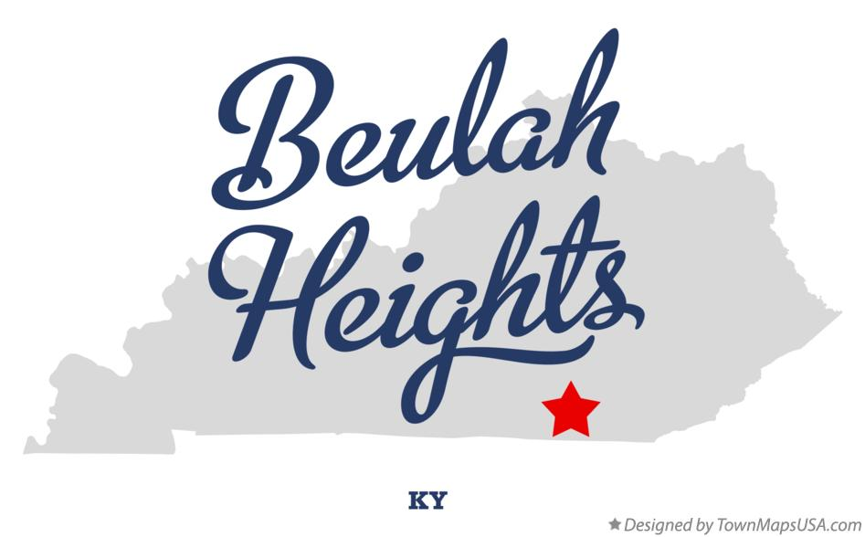 Map of Beulah Heights Kentucky KY
