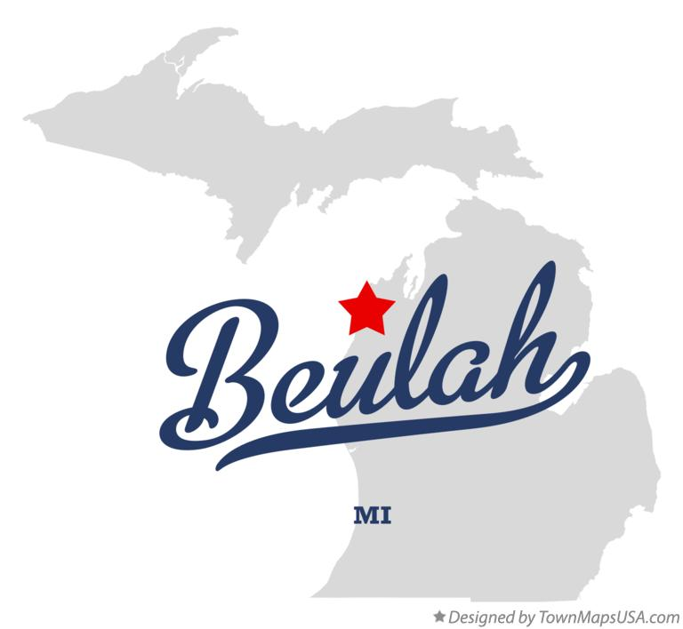 Map of Beulah Michigan MI