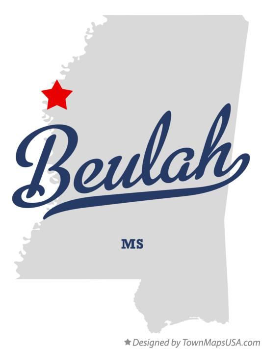 Map of Beulah Mississippi MS