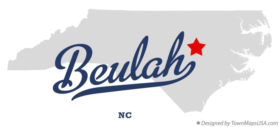 Map of Beulah North Carolina NC