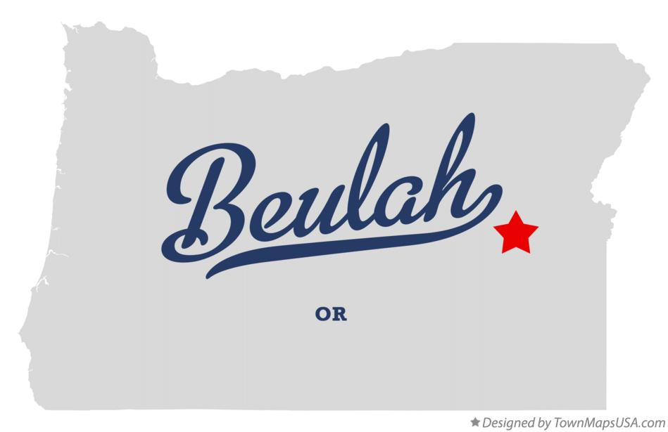 Map of Beulah Oregon OR