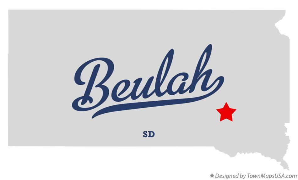 Map of Beulah South Dakota SD
