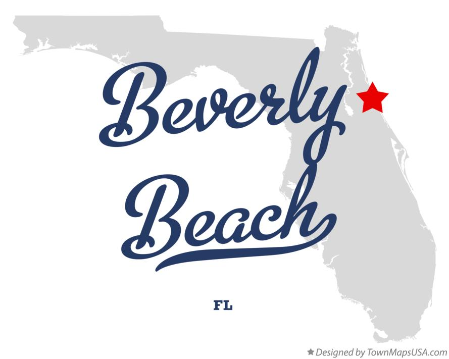 Map of Beverly Beach Florida FL