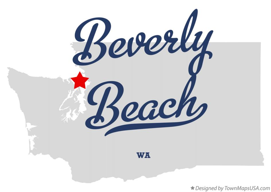 Map of Beverly Beach Washington WA