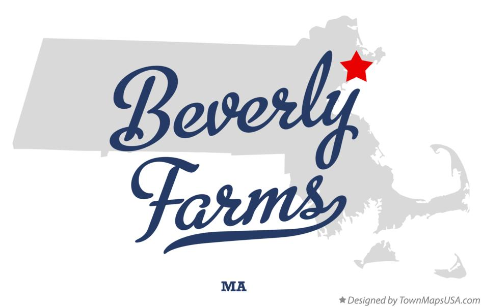 Map of Beverly Farms Massachusetts MA