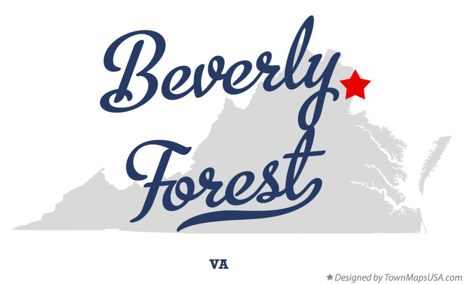 Map of Beverly Forest Virginia VA