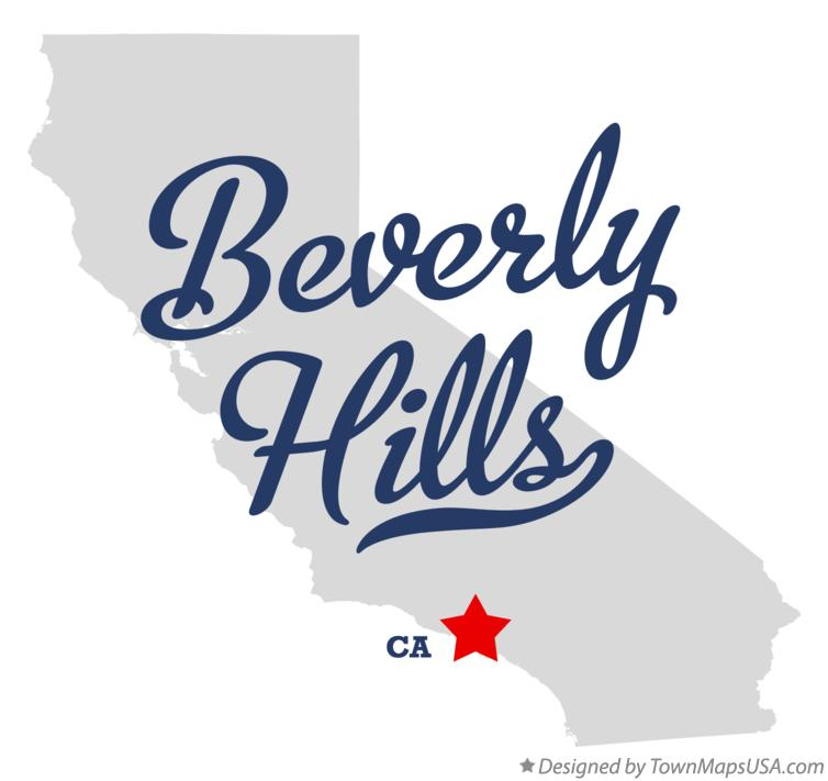 Map of Beverly Hills California CA