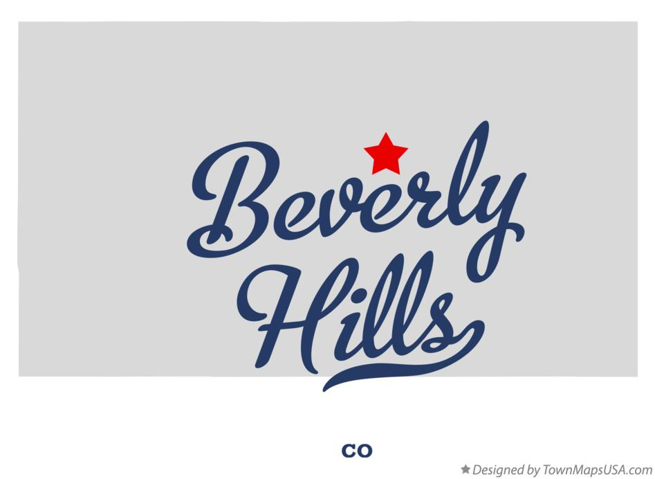 Map of Beverly Hills Colorado CO