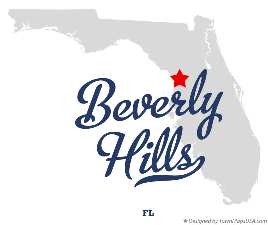 Map of Beverly Hills Florida FL