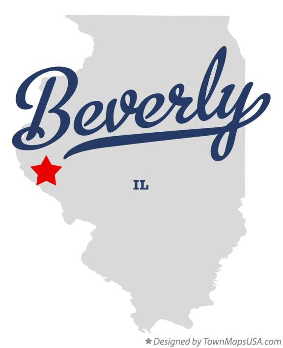 Map of Beverly Illinois IL