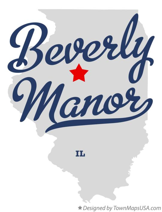 Map of Beverly Manor Illinois IL