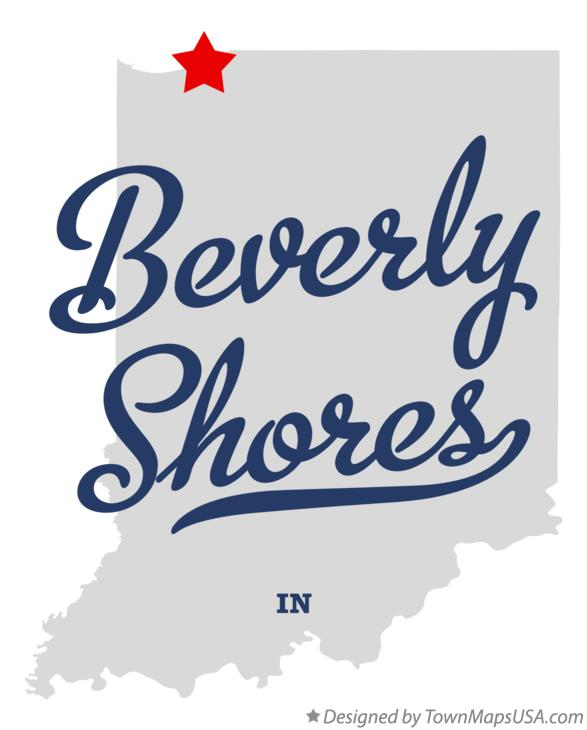 Map of Beverly Shores Indiana IN