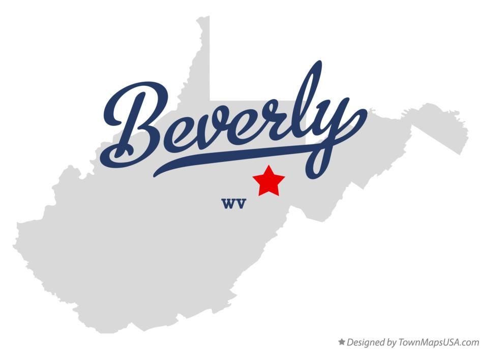 Map of Beverly West Virginia WV