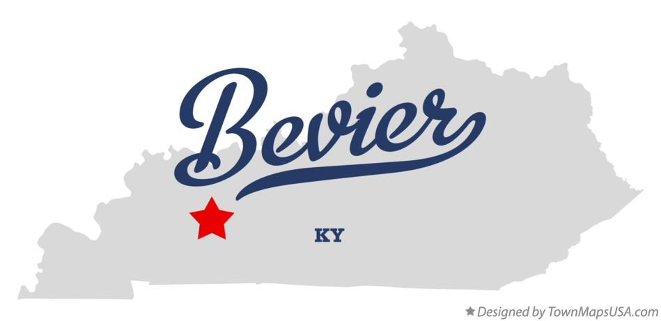Map of Bevier Kentucky KY