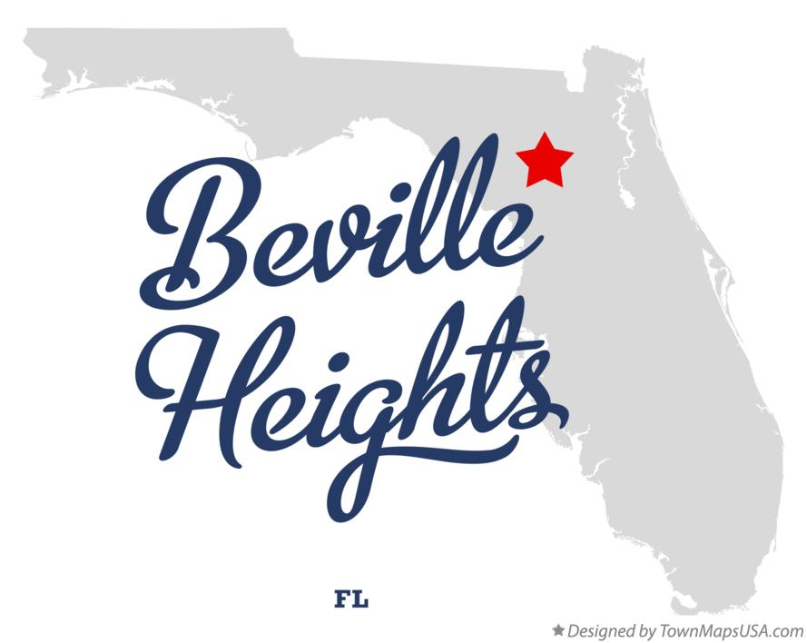 Map of Beville Heights Florida FL