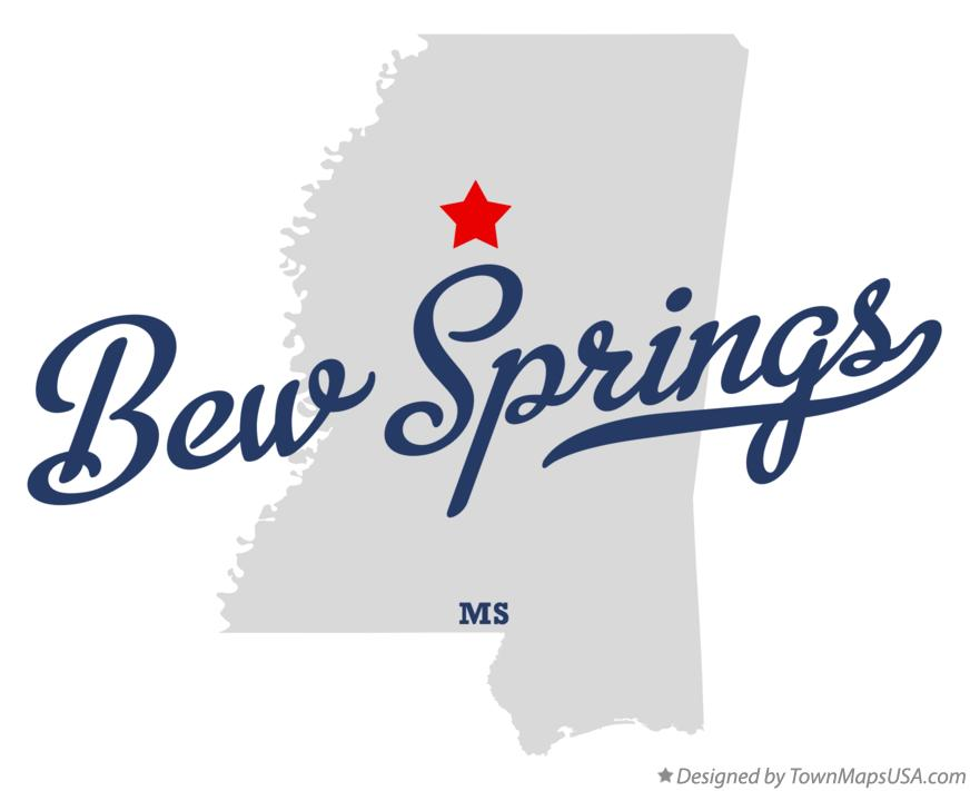 Map of Bew Springs Mississippi MS
