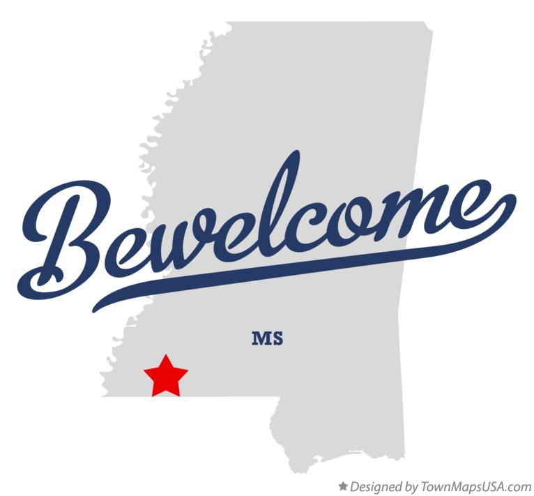 Map of Bewelcome Mississippi MS