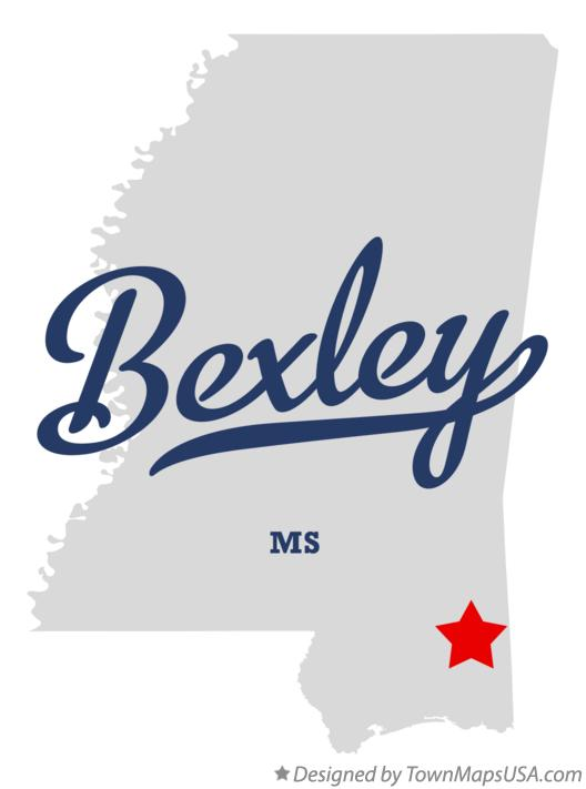Map of Bexley Mississippi MS