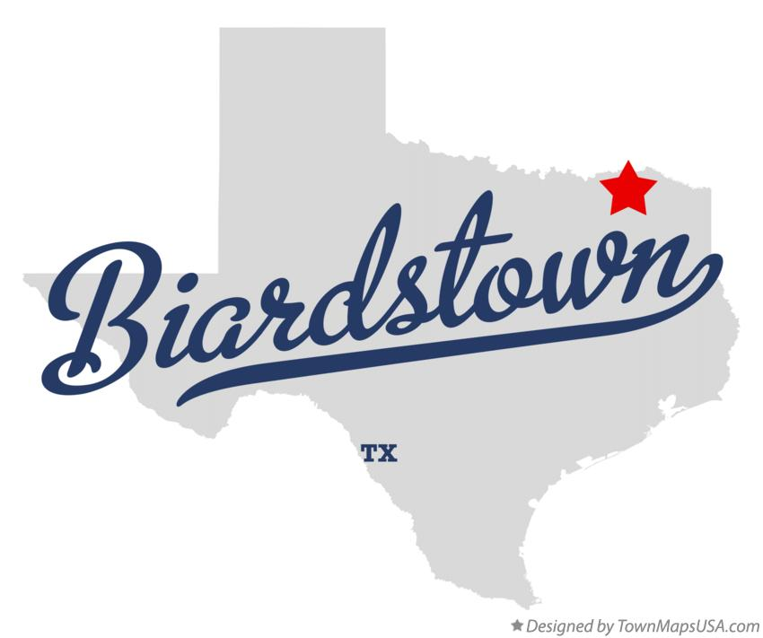Map of Biardstown Texas TX