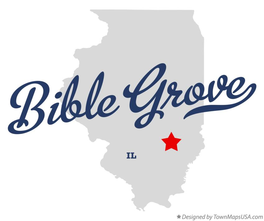 Map of Bible Grove Illinois IL
