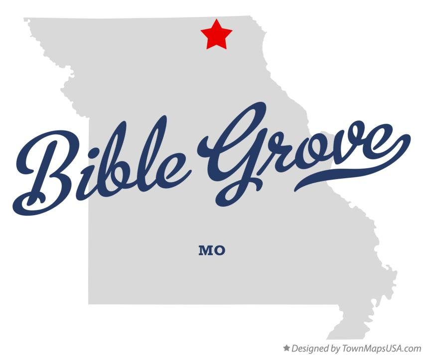 Map of Bible Grove Missouri MO