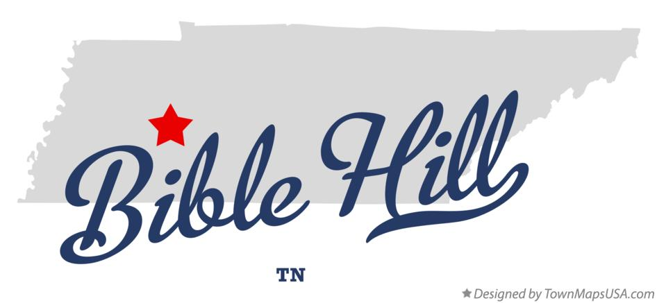 Map of Bible Hill Tennessee TN