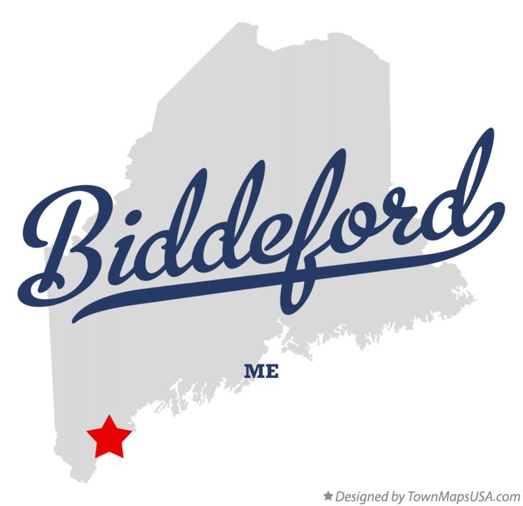 Map of Biddeford Maine ME