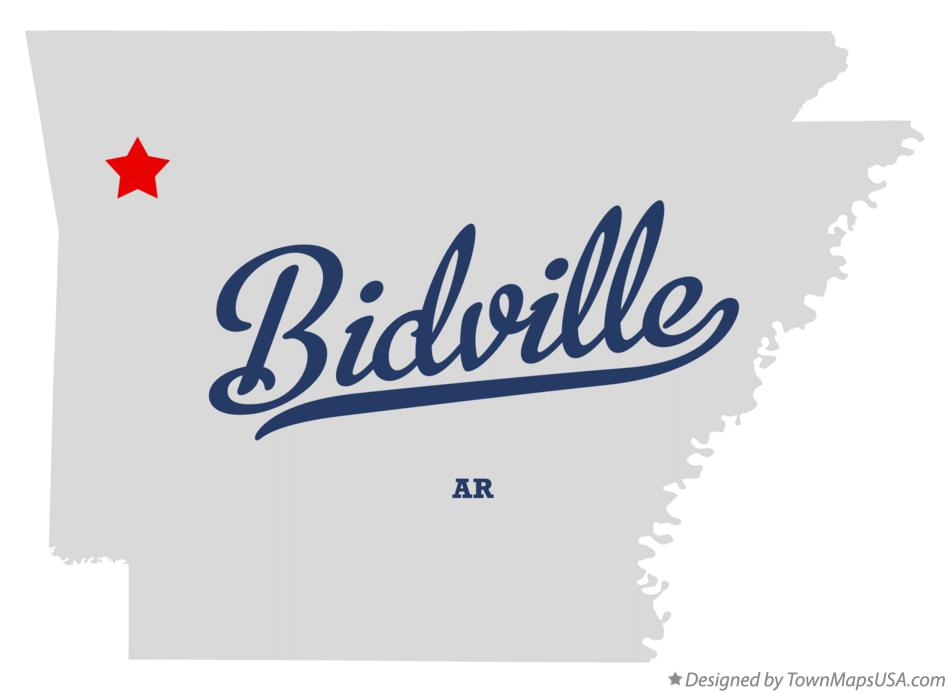 Map of Bidville Arkansas AR