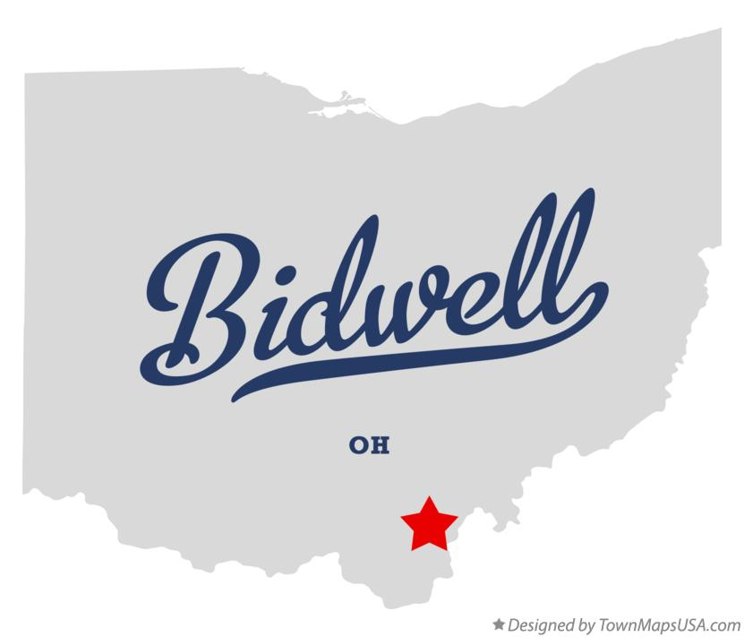 Map of Bidwell Ohio OH