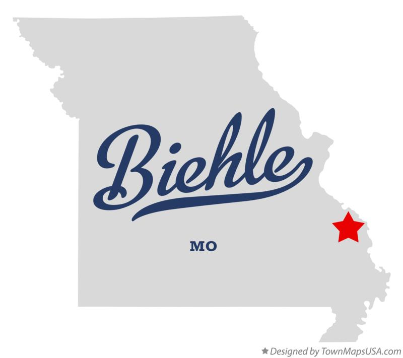 Map of Biehle Missouri MO