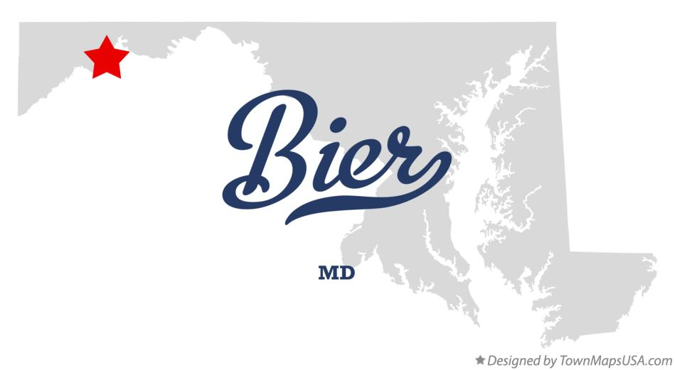 Map of Bier Maryland MD