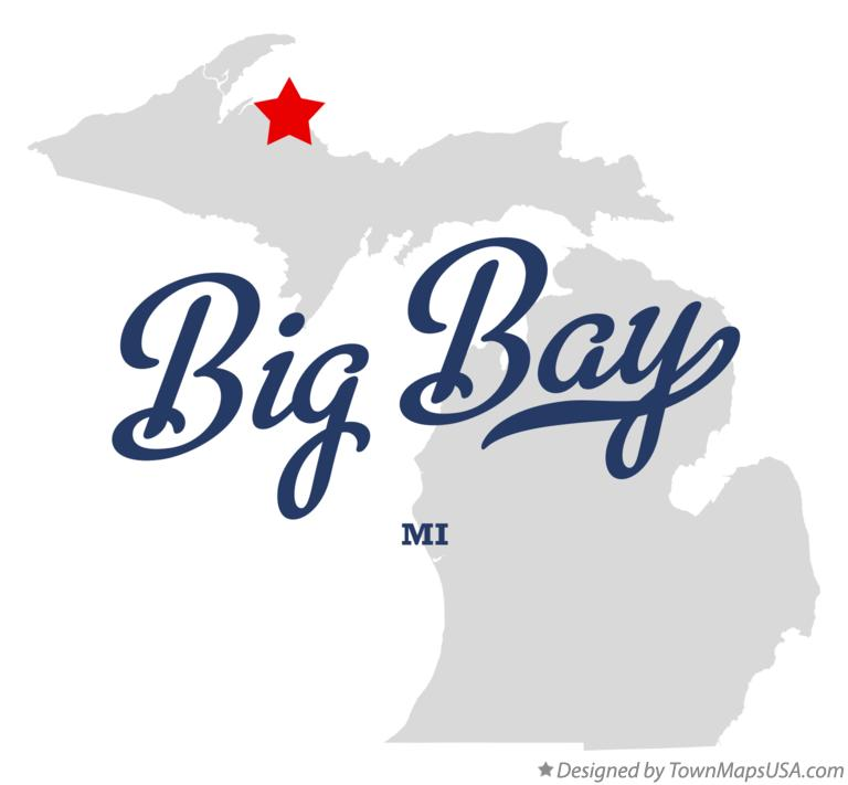 Map of Big Bay Michigan MI