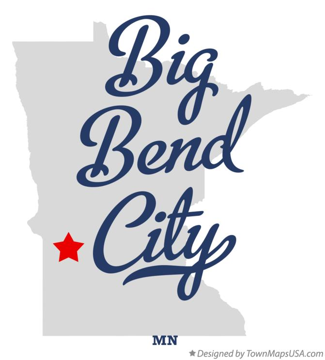 Map of Big Bend City Minnesota MN