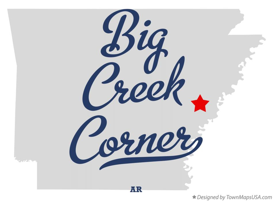 Map of Big Creek Corner Arkansas AR