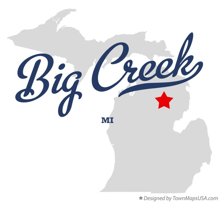 Map of Big Creek Michigan MI