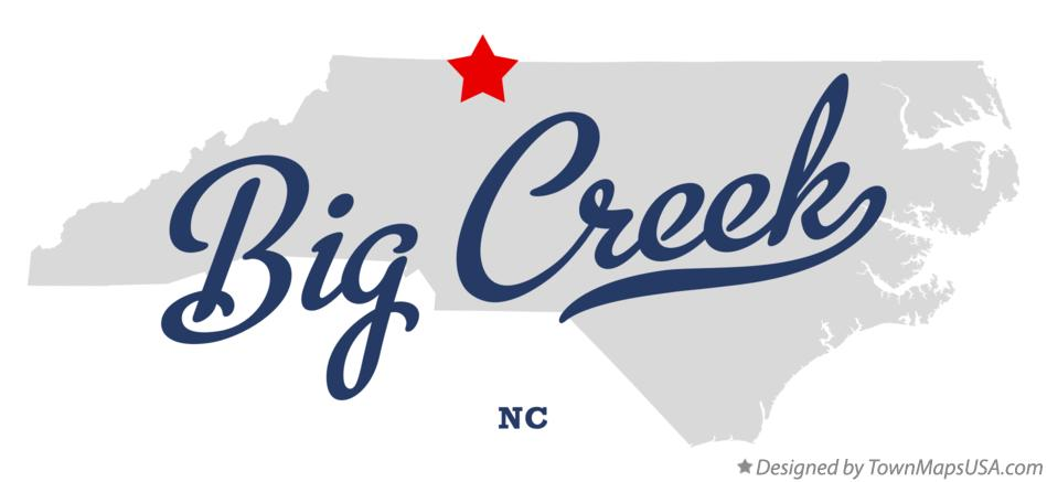 Map of Big Creek North Carolina NC