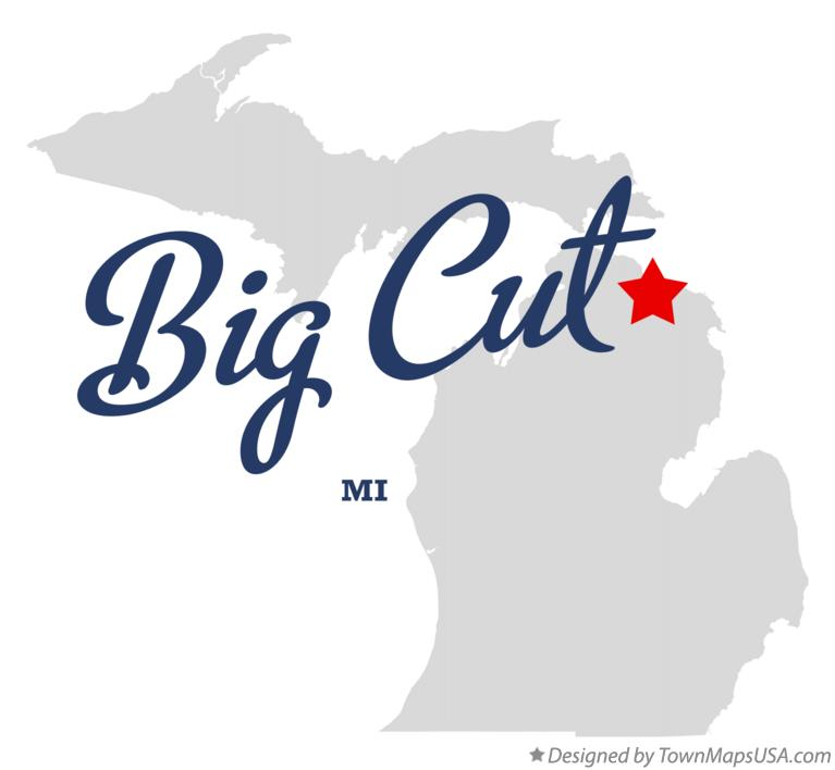 Map of Big Cut Michigan MI