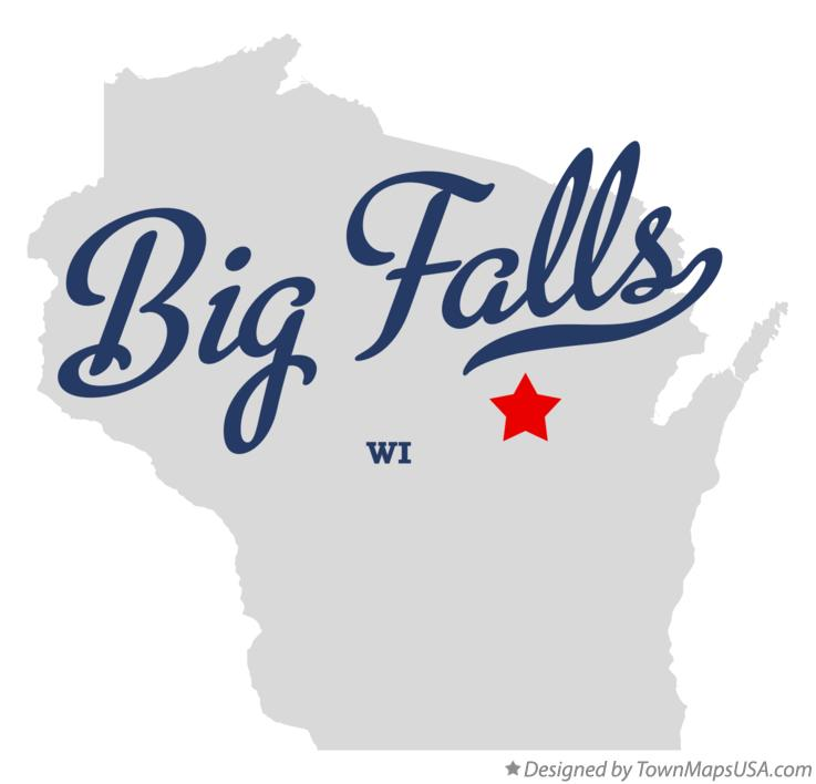 Map of Big Falls Wisconsin WI