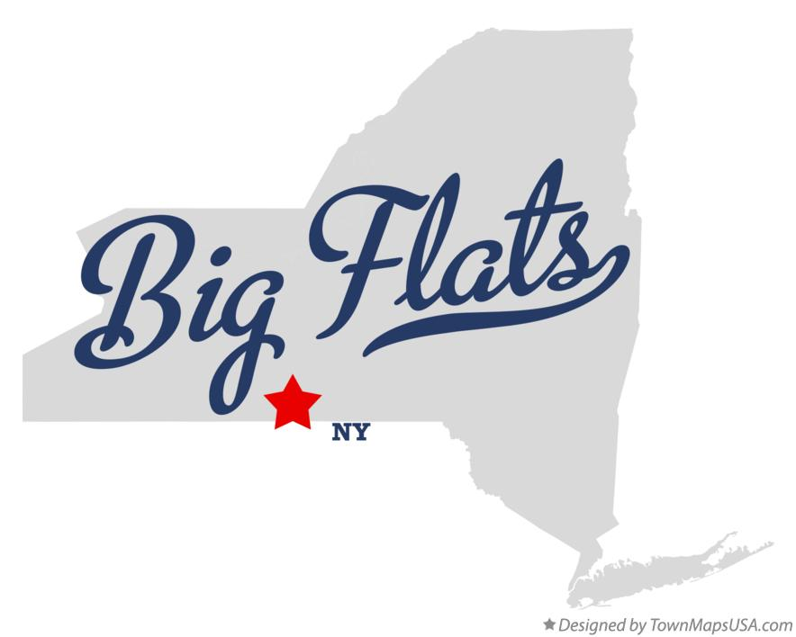 Map of Big Flats New York NY