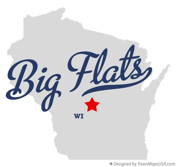 Map of Big Flats Wisconsin WI