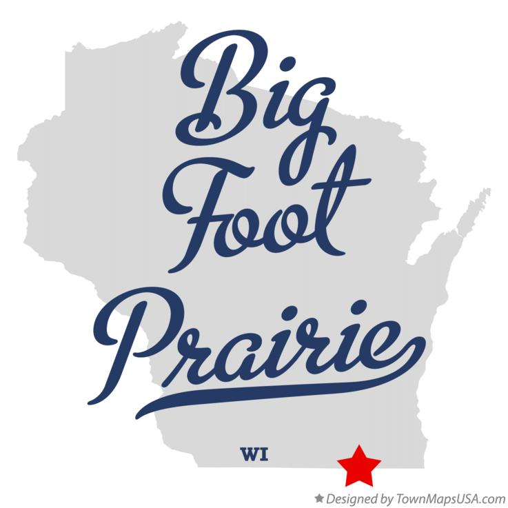 Map of Big Foot Prairie Wisconsin WI