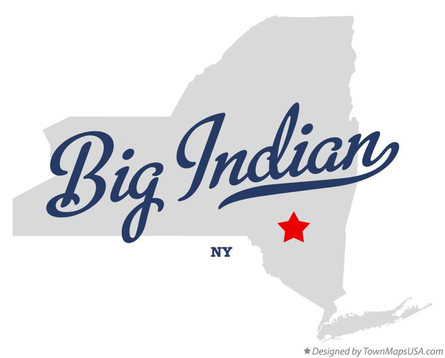 Map of Big Indian New York NY