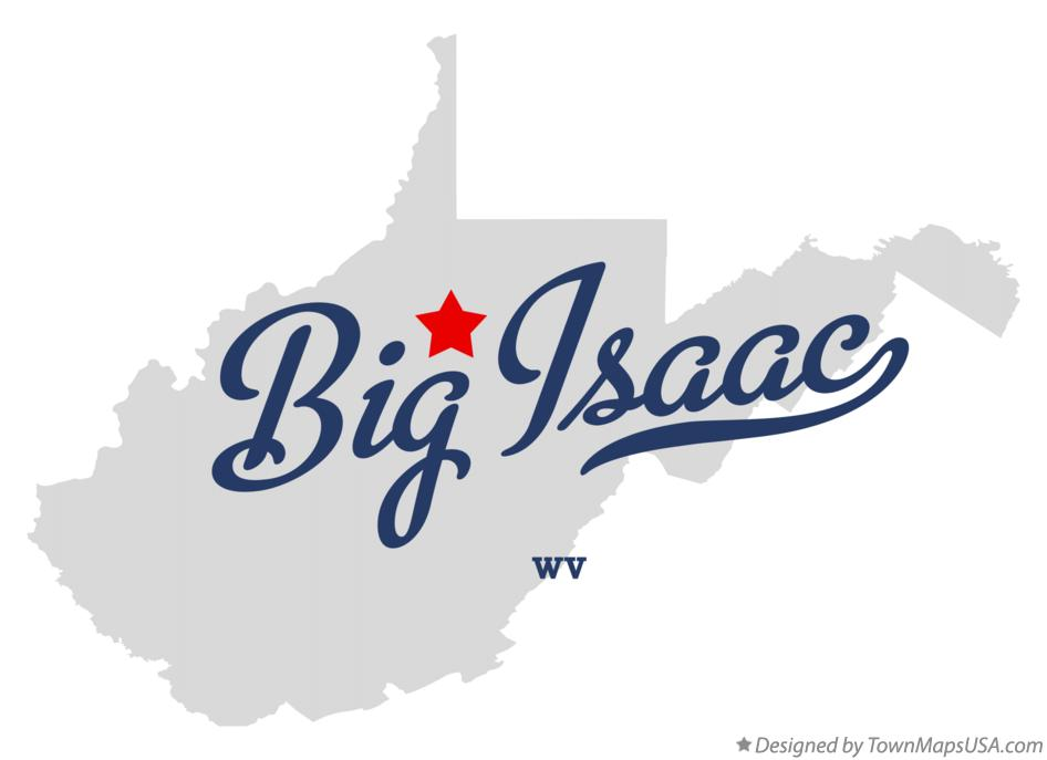 Map of Big Isaac West Virginia WV