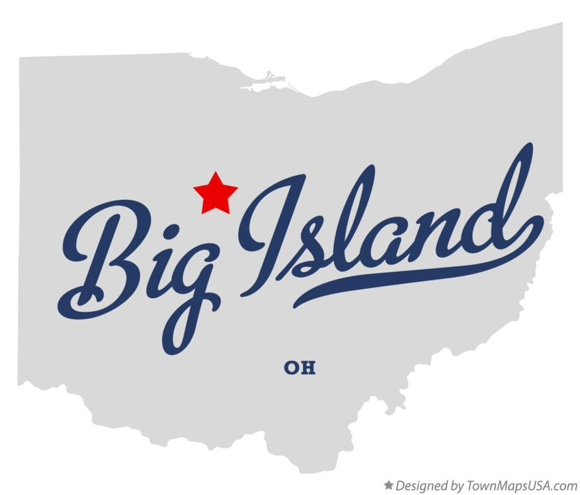 Map of Big Island Ohio OH