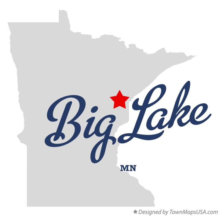 Map of Big Lake Minnesota MN